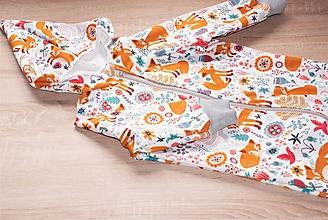 Detské oblečenie - Softshellový overal s líštičkami - 10628987_