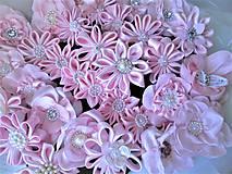 Iné doplnky - Saténové kvety - 10630112_