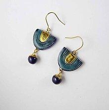 Náušnice - Tana šperky - keramika/zlato - 10629104_