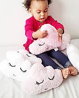 Textil - Malé mäkkučké obláčiky (Obláčik bledunko ružový) - 10628909_
