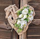 Dekorácie - Drevené spomienkové srdce - 10631033_