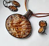 """Náhrdelníky - Keramický šperk """" Zlatý mok """" - 10629356_"""
