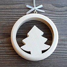 Dekorácie - Drevený Vianočný Stromček - 10628961_