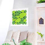Obrazy - Machový obraz 40x40 (bledá breza) - 10629366_