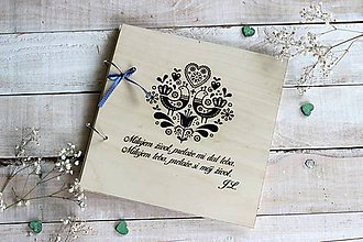 Papiernictvo - Personalizovaný svadobný fotoalbum - 10630715_