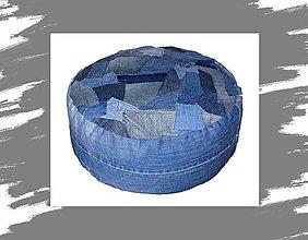 Úžitkový textil - Sedák - jeans - 10630497_