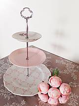 - etažér - ružová neha - 10629536_