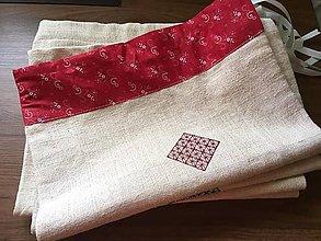 Úžitkový textil - vrecká na chlebík veľké - 10629206_