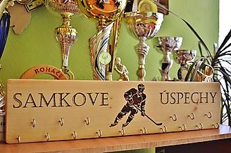 Detské doplnky - Vešiak na medaily-hokej - 10629318_