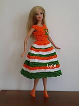 Hračky - Háčkované šatičky pre Barbie - 10631214_