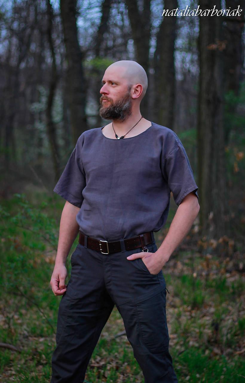 Tričká - Ľanové tričko - 10631329_