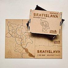 Hračky - Mapuzzle Bratislava - mestské časti - 10631912_