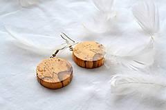 Náušnice - Tlkot dreveného srdca