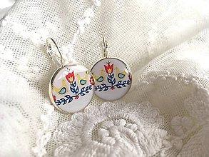 Náušnice - Náušničky s folk vtáčikmi - 10630738_