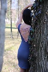 Šaty - Bavlnené šaty s viazačkou na chrbte - 10631047_