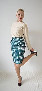 Sukne - Puzdrová sukňa so vzorom - 10630810_