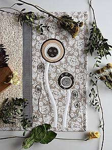 Úžitkový textil - Štóla - hnedé prevedenie - 10632282_