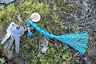 Kľúčenky - Kľúčenka modrá- Anjel - 10630889_