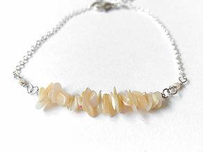 Náramky - Náramok s perleťou - 10630904_