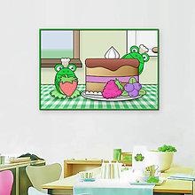 Grafika - Žabky kuchárky - grafika (ovocná torta) - 10631651_