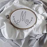 Textil - XL hniezdo s vyšívaným monogramom - 10633498_