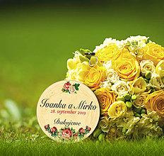 Darčeky pre svadobčanov - Svadobná magnetka - 10634636_