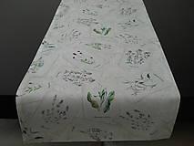 Úžitkový textil - Štóla - Rastlinky - 10634484_