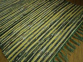 Úžitkový textil - tkany koberec zlto zeleny - 10633829_