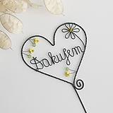 """Dekorácie - srdiečko s nápisom """"Ďakujem"""" (Žltá) - 10635429_"""