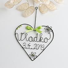 Detské doplnky - srdiečko pre bábätko  (Zelená) - 10635364_