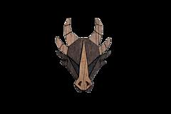 Odznaky/Brošne - Drevená brošňa Dragon Brooch - 10632934_