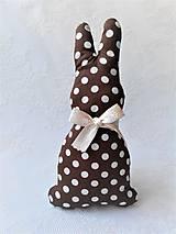 Dekorácie - Bunny (brown/white dots) - 10632785_
