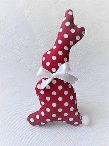 Dekorácie - Bunny (bordeaux/white dots) - 10632791_