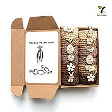Dekorácie - Mini košíčky na vajíčka (100% biobavlna) - 10632515_