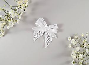Pierka - Bavlnené svadobné pierka s mašličkou - 10635629_