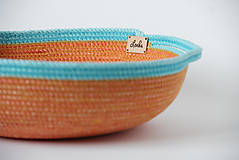 Košíky - Miska oranžovomodrá - 10632905_