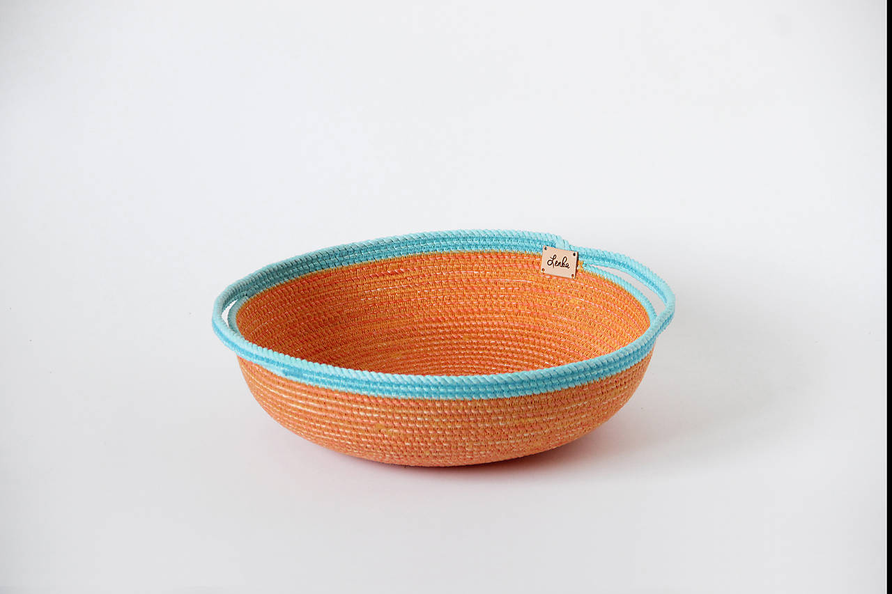 Miska oranžovomodrá