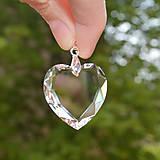 Iné šperky - Prívesok Swarovski kryštálové srdce