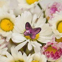 """Detské doplnky - Detské / dievčenské strieborné náušnice motýliky Swarovski """"Motýlí tanec"""" - 10635639_"""