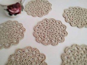 Úžitkový textil - Podšálky Natur - 10634536_
