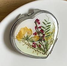 Zrkadielka - Valentínske zrkadielko s lúčnymi kvetmi / B1 - 10633737_