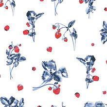 Úžitkový textil - Závesy z ľahšej bavlny - 1 pár  (Jahody I.) - 10633450_
