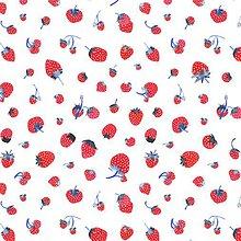 Úžitkový textil - Závesy z ľahšej bavlny - 1 pár  (Jahody II.) - 10633453_