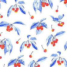 Úžitkový textil - Závesy z ľahšej bavlny - 1 pár  (Čerešne) - 10633462_