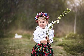 Ozdoby do vlasov - Kvetinová čelenka UNI veľkosť pre deti aj dospelé - 10632393_