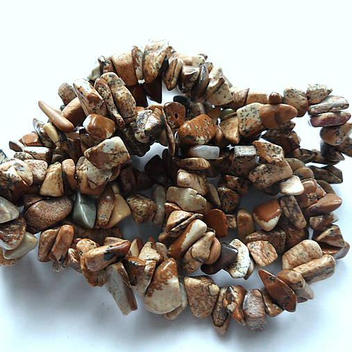 Minerály-zlomky-návlek (Jaspis krajinný menší-cca 90cm)