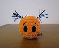 Vlasaté príšerky - háčkované (Oranžová)