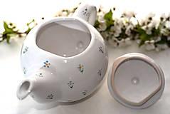 Nádoby - Kvietkovaný čajník - 10634268_
