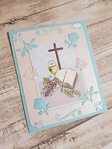 Papiernictvo - pohľadnica pre chlapčeka k prvému svätému prijímaniu - 10635145_