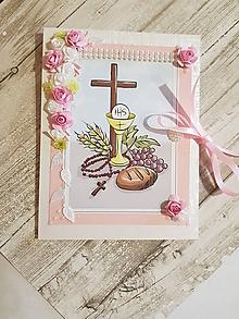 Papiernictvo - pohľadnica pre dievčatko k prvému svätému prijímaniu - 10635180_